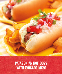 Patagonian Hot Dogs with Avocado Mayo
