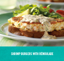 Shrimp Burgers with Rémoulade